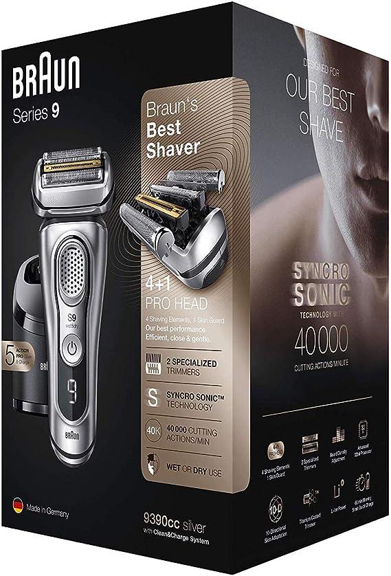 Braun Series 9 9390cc, plata: Amazon.es: Hogar