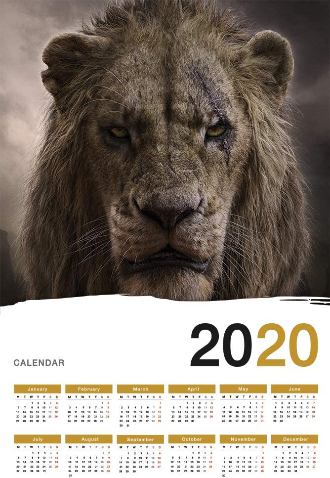 Amazon Com Hotprint The Lion King 2020 Calendar Movie Poster Wall Decor 17 X 25 Posters Prints