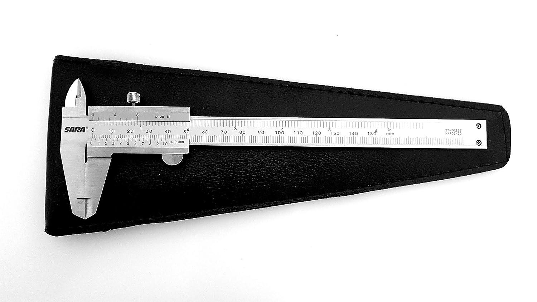 Calibro a corsoio DIN862 con vite di fissaggio in acciaio INOX SARA 150 mm