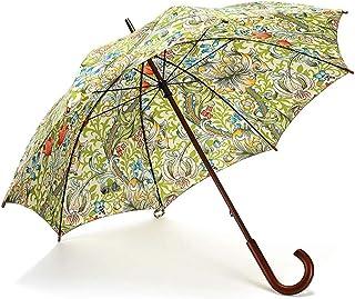 KGMYGS Solid Wood Long Handle Umbrella Creative Large Windproof Folding Umbrella Rain And Rain Umbrella Blue, Green, Red Optional umbrella (color : GREEN)