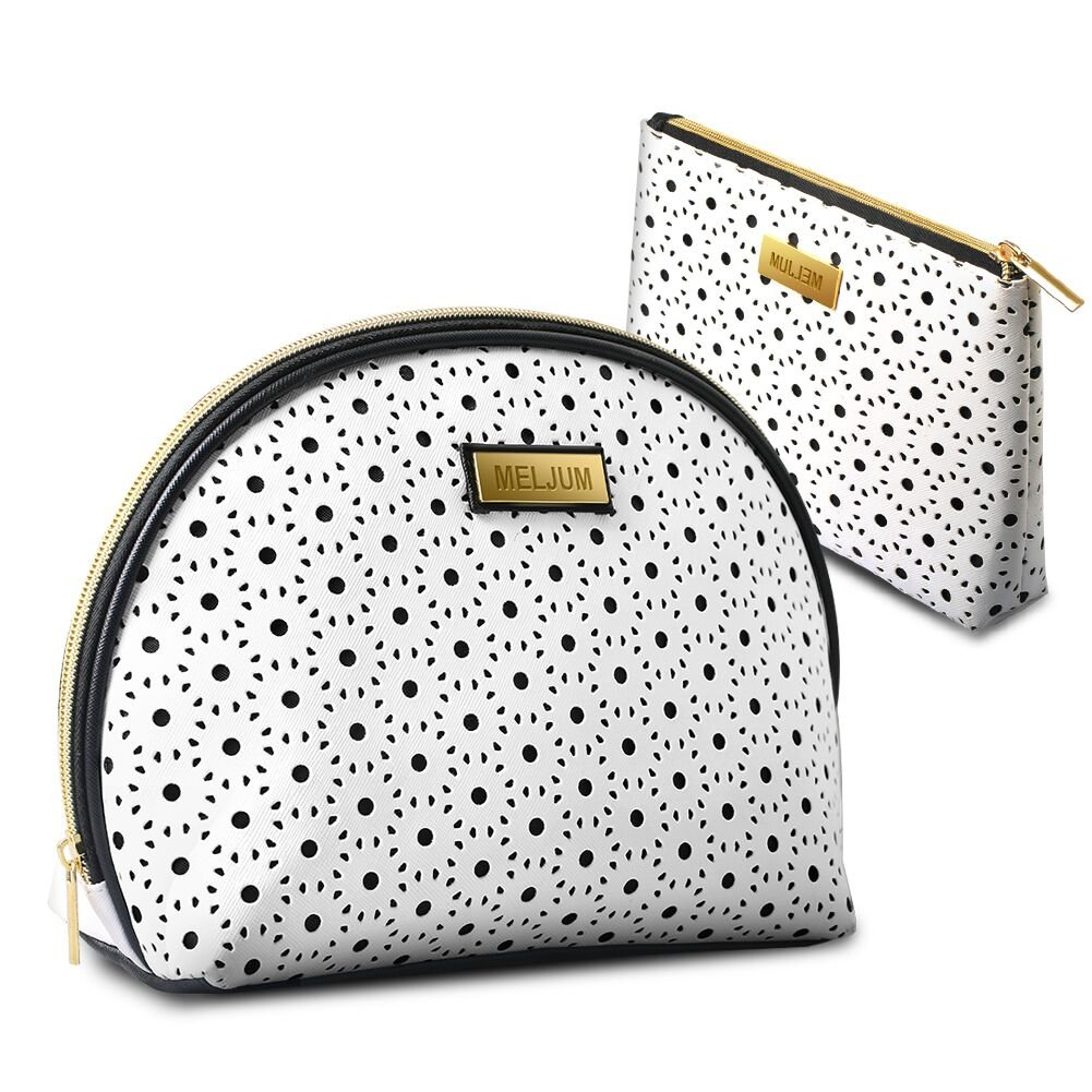 2 Pack Portable Travel Makeup Bag, Makeup Train Case Multifunction Large Capacity Organizer Cosmetic Bag Toiletries Bag with Makeup Brushes Wallet Phones Jewelry Digital Accessories for Women Girl