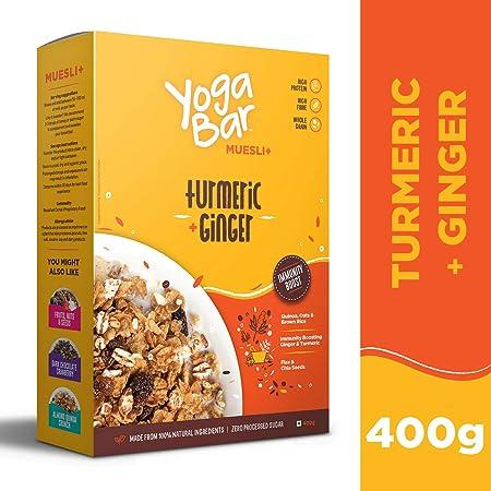 Amazon.com: Yogabar - Muesli de desayuno de grano, cúrcuma y ...