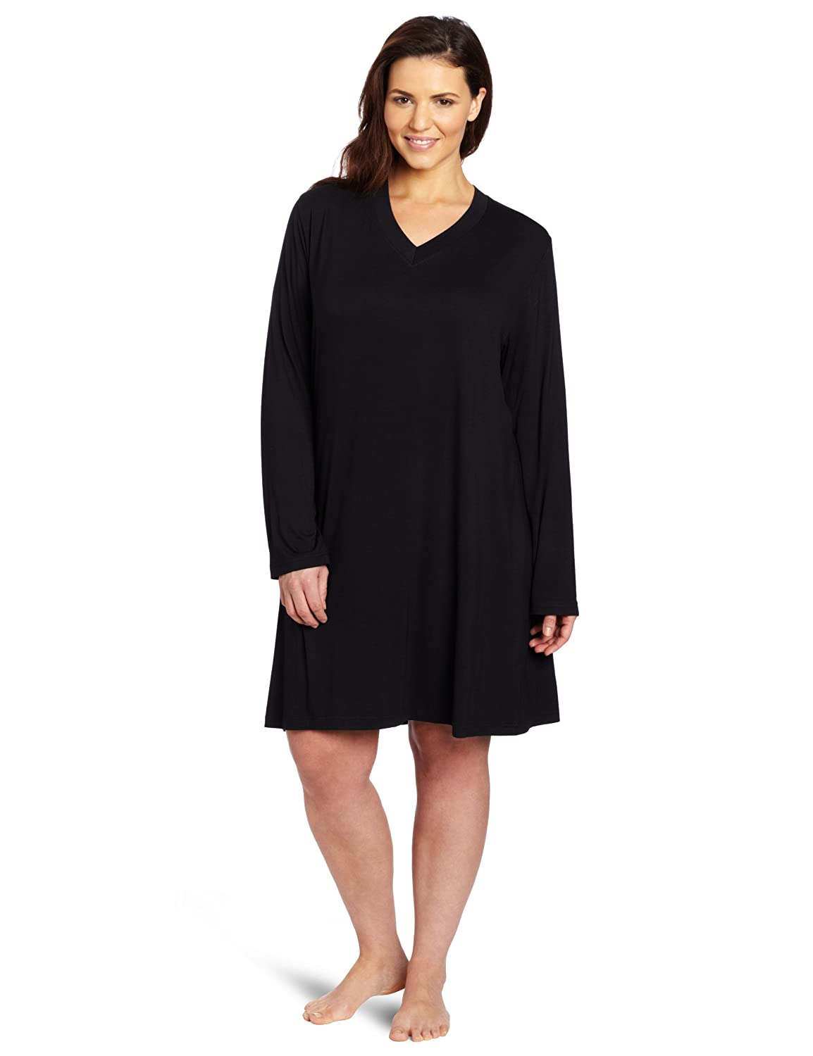Casual Moments Women s Plus-Size Sleepshirt at Amazon Women s Clothing  store  Nightgowns 94423e361