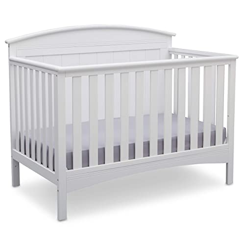 Delta Children Archer Solid Panel 4-in-1 Convertible Baby Crib
