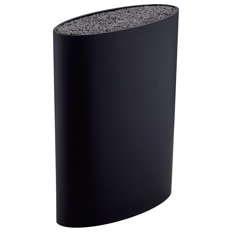 Tacoma / Bloque de cuchillos universal, gran capacidad, lavable, goma plástica, negro