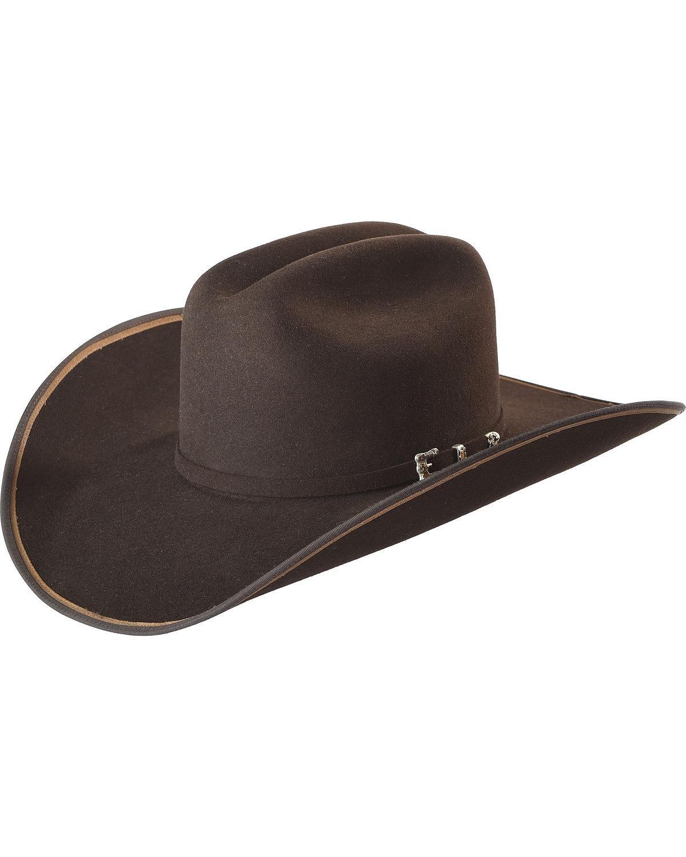 Justin Men's Bent Rail Chocolate 7X Hooked 2 Cowboy Hat Chocolate 7 1/4