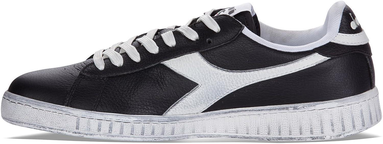 Diadora - Chaussures de Sport Game L Low Waxed pour Homme et Femme C0641 Noir Blanc