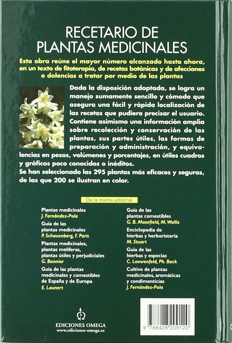 RECETARIO DE PLANTAS MEDICINALES GUIAS DEL NATURALISTA-PLANTAS MEDICINALES, HIERBAS Y HERBORISTERÍA: Amazon.es: FERNANDEZ-POLA, JOSE: Libros