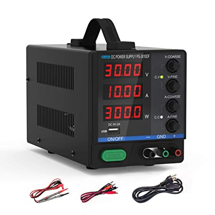 Size : 110V ZHU-CL Scientific Measuring Equipment Adjustable DC Power Supply 30V 2A Notebook Repair Linear Power Supply MCH-302B Digital Display