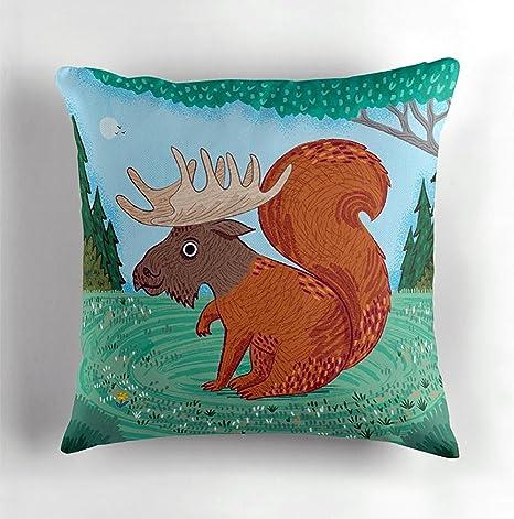 iota illustration The Squoose - Cojín de ardilla - Moose ...
