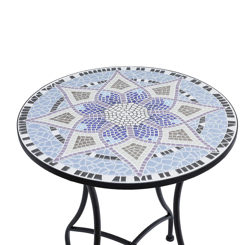 Mobilier de jardin Jardin Outsunny Table Ronde Pliable Style ...