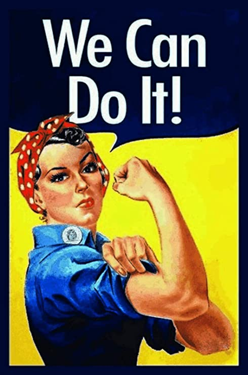 FS We Can Do It Woman - Cartel de chapa (20 x 30 cm), diseño de mujer:  Amazon.es: Hogar