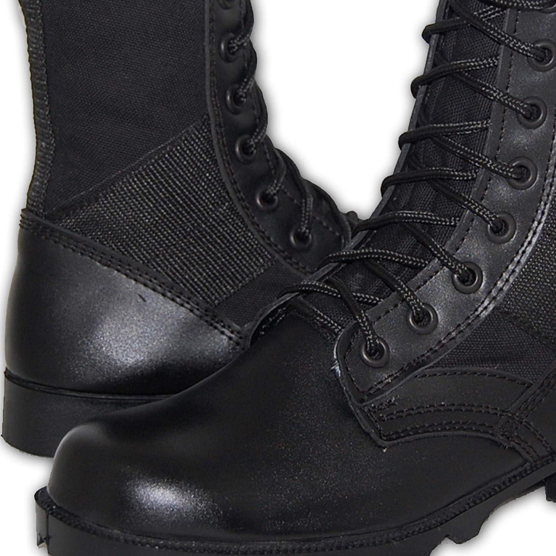 Black Men Size 10 Shoe Artists Combat Leather Jungle Boots