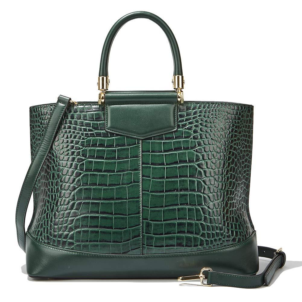 a29b68aff7f Women Genuine Leather Designer Handbags Luxury Embossed-Crocodile ...