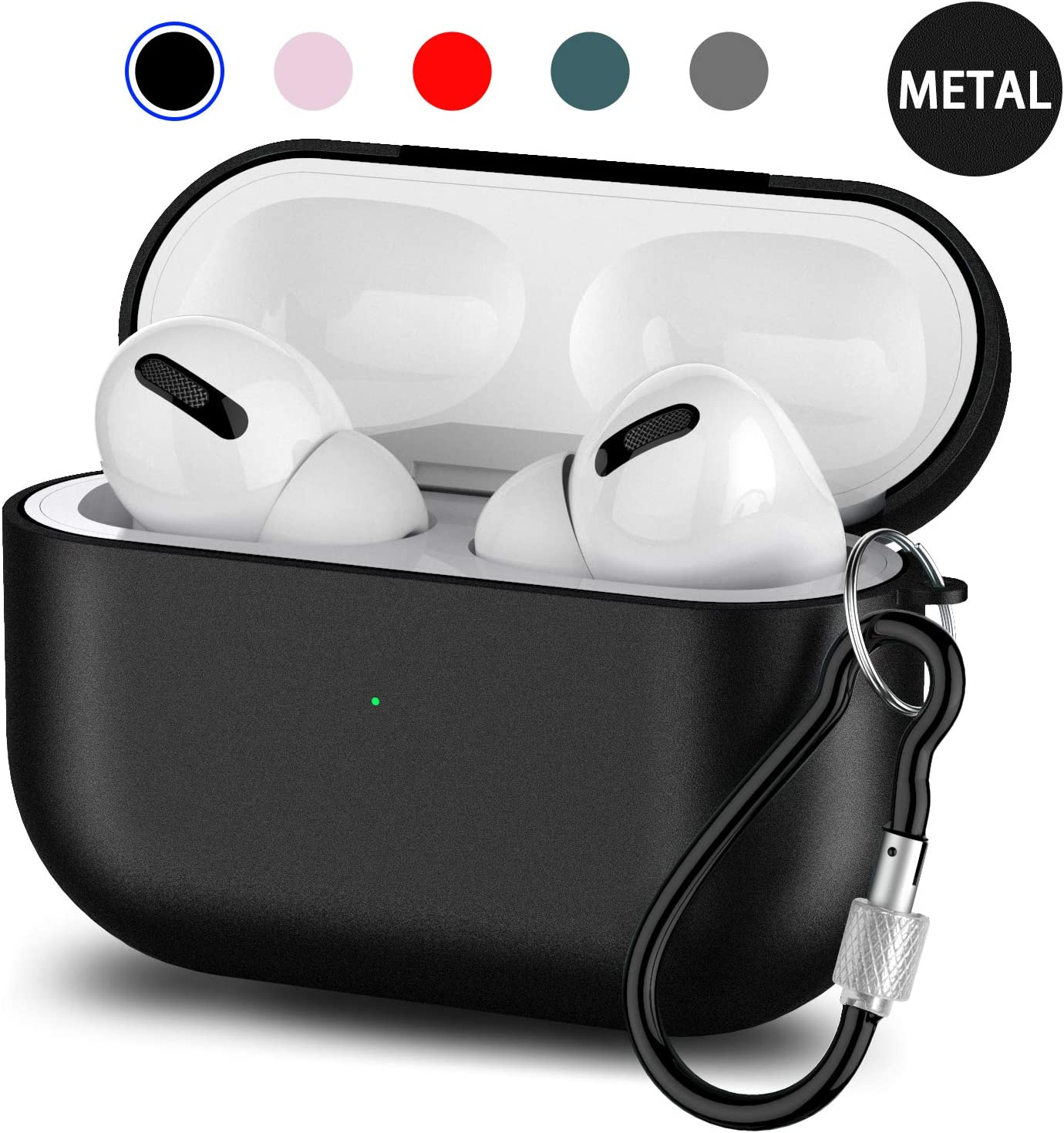 Kekilo Metal Airpods Case 2019 Newest Full Protective Skin Cover Accessories Kits Compatible Airpods Charging Case Ultra Lightweight Dustproof Scratchproof Case for Apple Airpods 1 /& 2 Charging Case Wireles Charge Edition, Red
