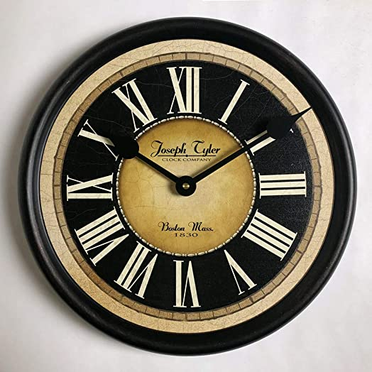 Augustus Wall Clock, Available in 8 Sizes, Most Sizes Ship 2-3 Days, Whisper Quiet.