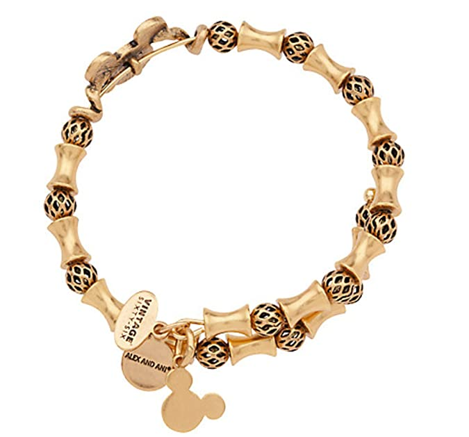 c75740137 Amazon.com: Disney Parks Mickey Mouse Filigree Wrap by Alex and Ani - Tubes  and Spheres Metal Beads (Gold): Jewelry