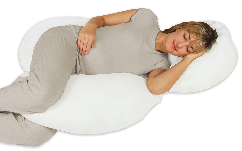Amazon Com Leachco Body Cloud Flexible Total Body Pillow White Osteoporosis Baby