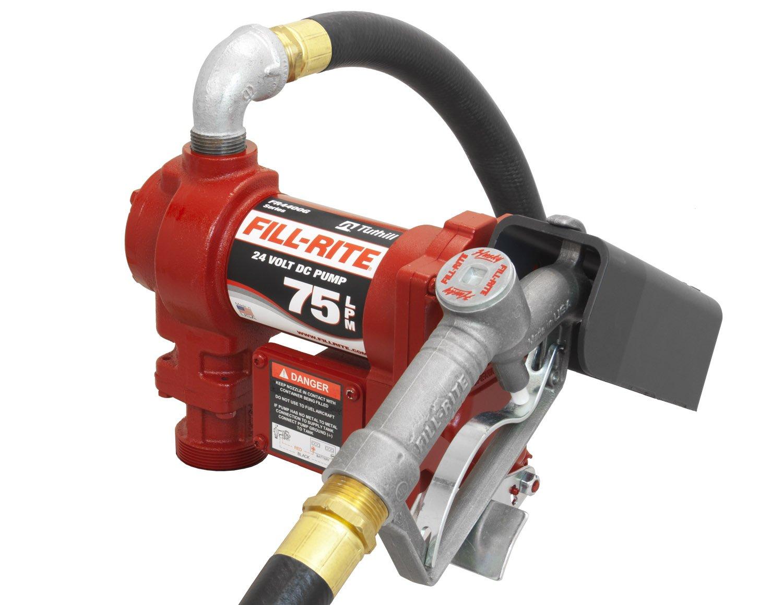 Fill-Rite FR4410G 24V DC Hi-Flow Pump, 1''x12' Hose, 1'' Manual Nozzle