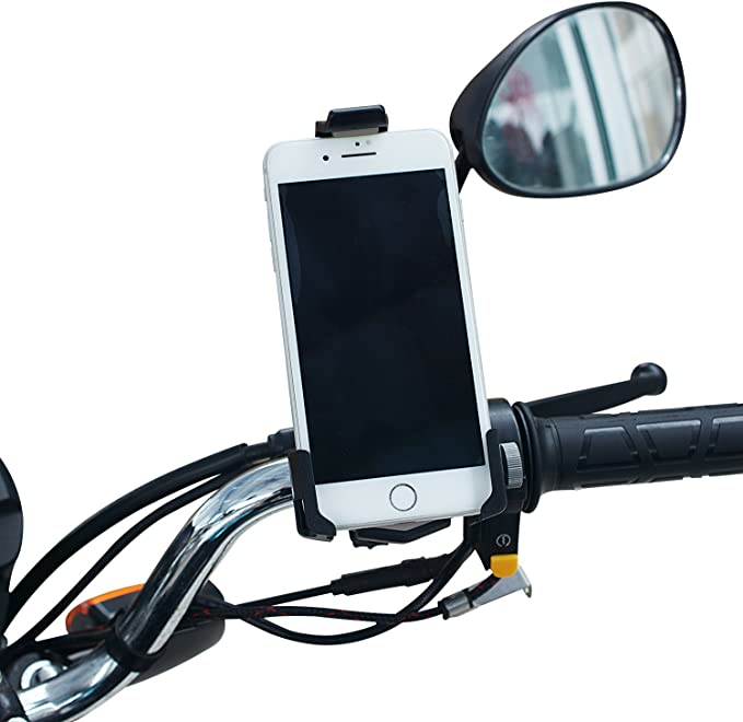 Ideal for Road Mountain Bikes and Motorcycle 3.5-6.0 Phones TurnRaise CSK89B TURN RAISE Universal Cell Phone Mount Holder Samsung Galaxy S9//S8 Plus 3.5-6.0 Phones Bike Mount Adjustable Motorcycle Mount for iPhone X//8//7//6 Plus