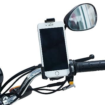 Samoleus Universal Bicicleta Motocicleta Montar Soporte USB Cargador de teléfono Celular para iPhone, GPS, Sony y Otros teléfonos con 3.5-6 Pulgadas ...