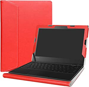 "Alapmk Protective Case Cover For 11.6"" Lenovo 500e Chromebook 2nd Gen& 300e Chromebook 2nd Gen& 100e Chromebook 2nd Gen Laptop(Warning:Not fit Lenovo 100e Windows&300e Windows 1st Gen),Red"