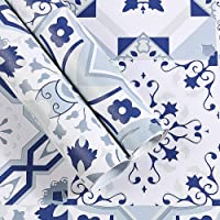 Moroccan Style Mosaic Wallpaper for Home Living Room Bedroom Indoor and TV Background and Vintage Home Decoration,for Room Home Nursery Bedroom Office Supplies Decal Gift (Color : #1)