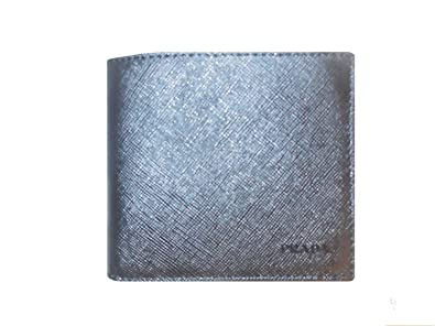 402708be2099d3 Image Unavailable. Image not available for. Color: Prada Mens Kp1057 Saffiano  Leather Wallet.