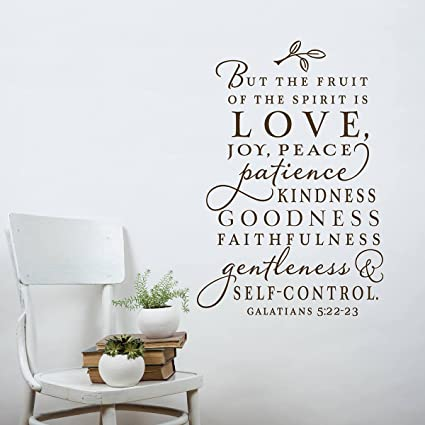Amazon.com: The Fruit of The Spirit Wall Decal, Christian Wall Decal ...