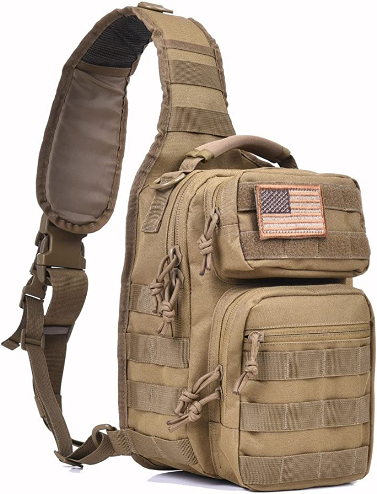 Tactical Sling Bag Pack Military Rover Shoulder Sling Backpack