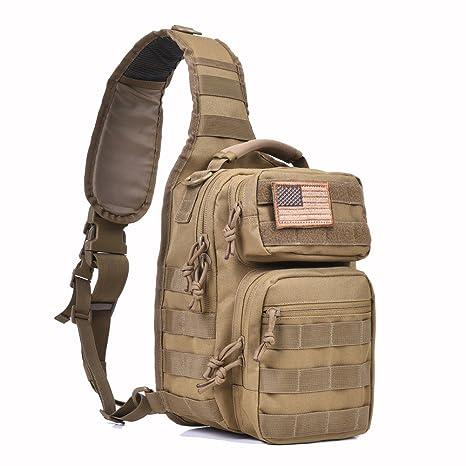 419c0304de02 Tactical Sling Bag Pack Military Rover Shoulder Sling Backpack Molle  Assault Range Bag Everyday Carry Diaper Bag Day Pack Small