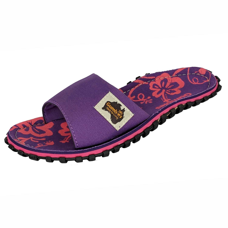 Gumbies - Sandalias de Vestir para Hombre 40 EU|Purple Hibiscus