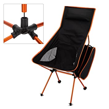 Yahill® Nuevo diseño/Extended Portable Ultraligero plegable moon Ocio silla de camping con bolsa