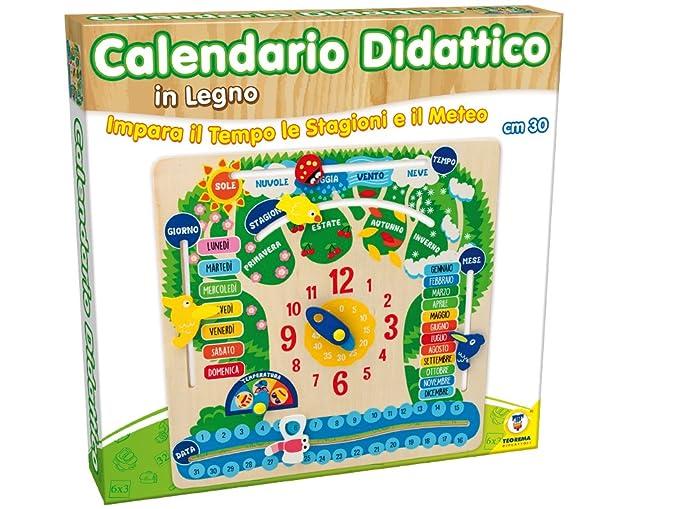 Unito Calendario Didattico.Teorema 40518 Calendario Didattico In Legno