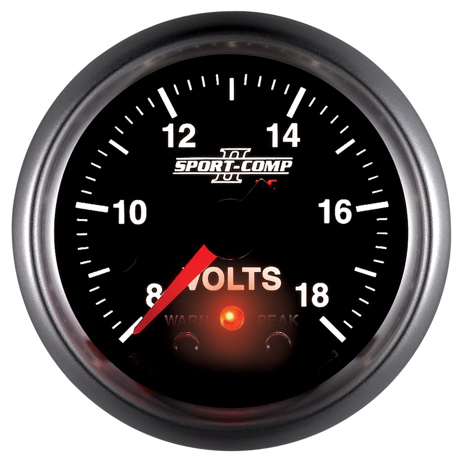 Auto Meter 3683 Sport-Comp II 2-1//16 8-18V Full Sweep Electric Voltmeter Gauge