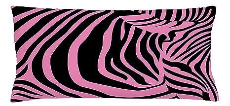 Fringcoook Rosa Pelle Di Zebra Federa Per Cuscino Sfondo Vibrante
