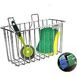 Kitchen Sponge Holder Brush Rack Sink Caddy Organizer Soap Dishwashing Liquid Drainer Stainless Steel Kitchen Tools