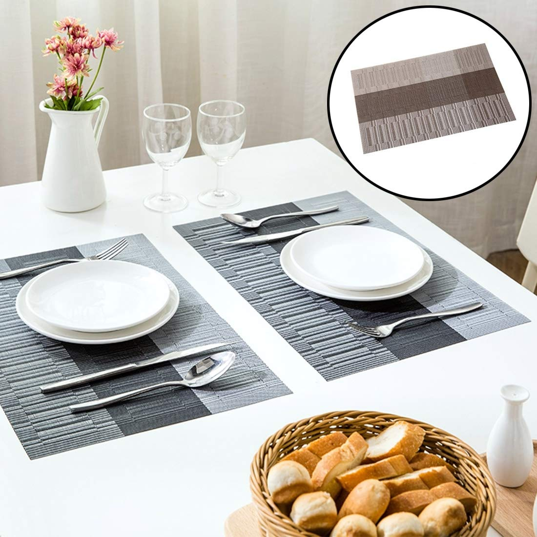 WXQ-XQ Sizing: 43.530cm, 5 PCS Childlike Knitting Style Raincoat Anti-Skid Insulation Dining Table Mat (SKU : Hc1145g) by WXQ-XQ
