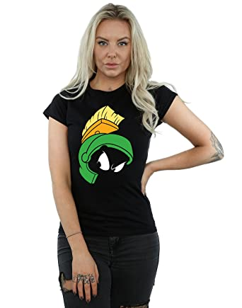 d59ed0a4a30011 Amazon.com  Looney Tunes Women s Marvin The Martian Face T-Shirt  Clothing