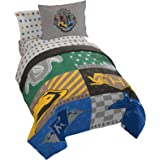 Jay Franco Harry Potter House Pride 7 Piece Queen Bed Set - Includes Comforter & Sheet Set - Bedding Features Hogwarts Houses