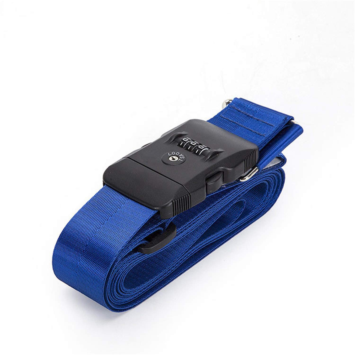 4.2m 3 Digit Password LockLuggage Belt Adjustable Travel Luggage Cross Strap for 18-34 inches Suitcase