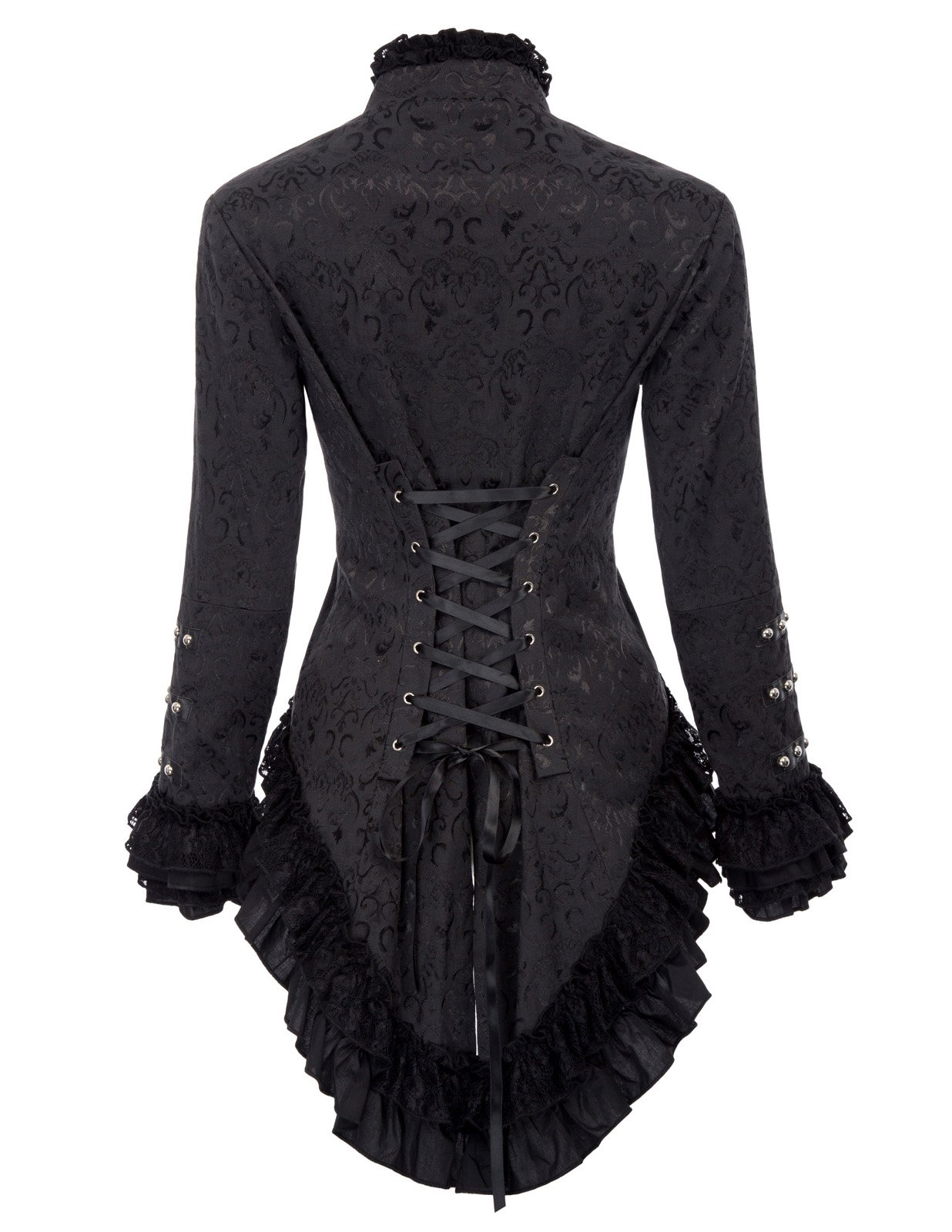 Belle Poque Womens Steampunk Victorian Tail Jacket Coat with Back Lacing 4
