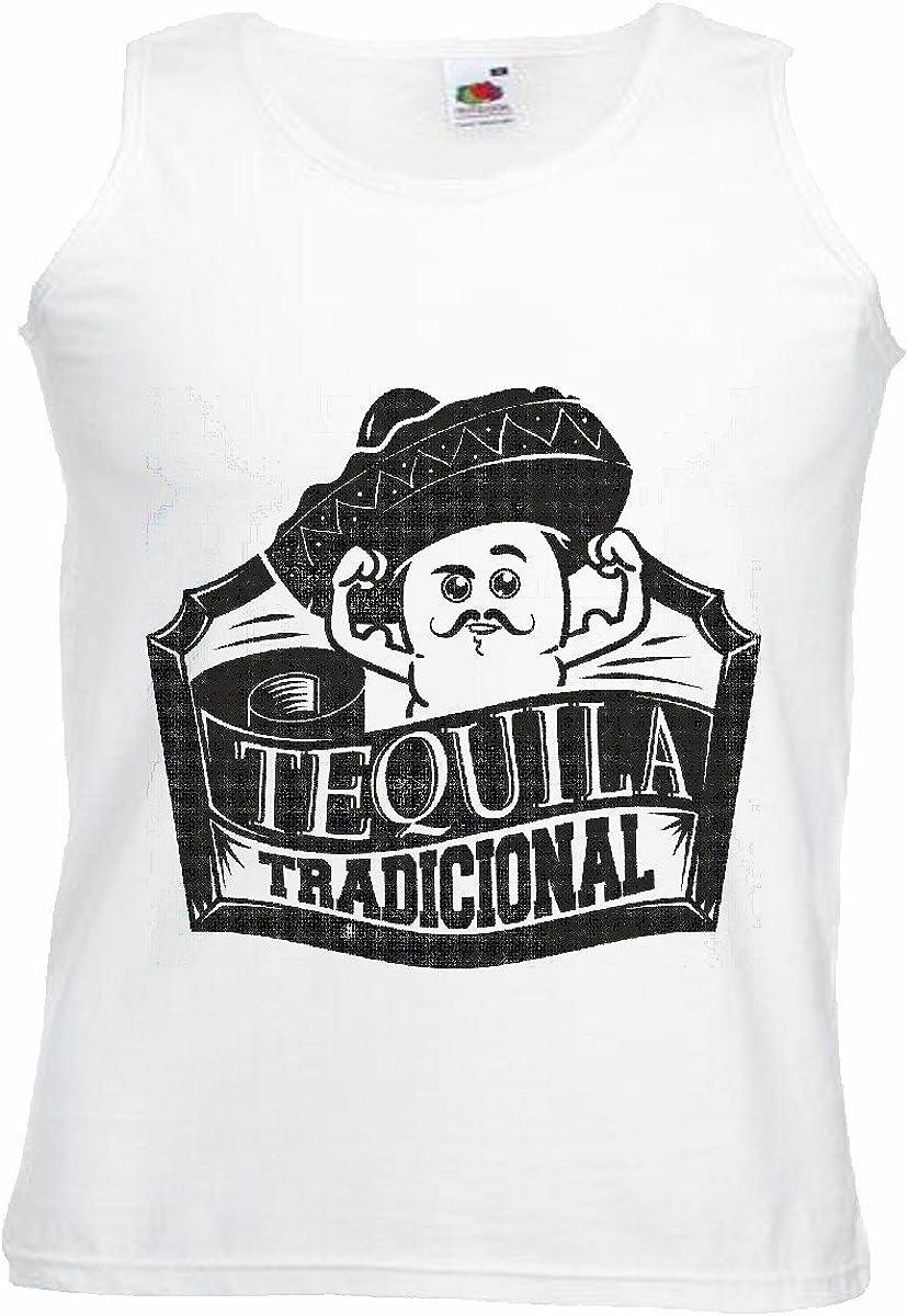 Camisa del músculo Tank Top Tequila Mexico Tradicional Mexicana Sombrero Mexicano del Alcohol SANGRÍA DE New York América California EE.UU. Ruta 66 Camisa Motorista de la Motocicleta de New York NY: Amazon.es: