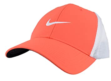 36e080974b3 Nike Mens Legacy 91 DRI-FIT Tour Mesh Fitted Golf Fish Hat Cap White Swoosh  L XL
