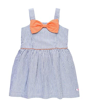 bb69f5f47 Amazon.com: RuffleButts Baby/Toddler Girls Sleeveless Sun Dress Fit and  Flare Bow Dress: Clothing