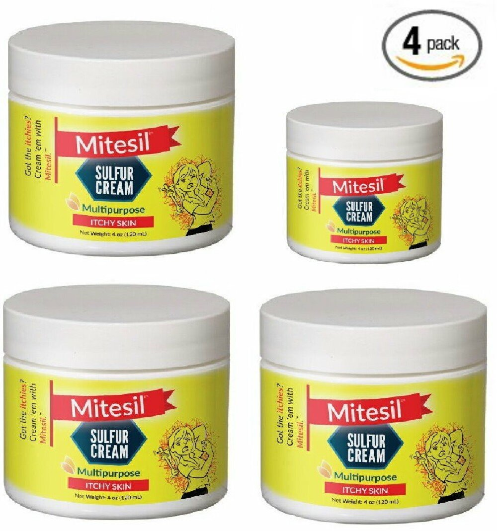 4 Pack - Mitesil Mite Cream - Relief by Mitesil