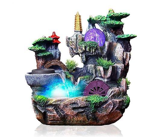 Resina Fuente de Agua Feng Shui Ornamento Aromaterapia Artificial ...