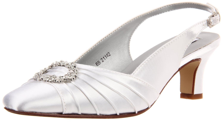 Dyeables Women's Ann Pump B007XTO7SC 6.5 W US|White Satin