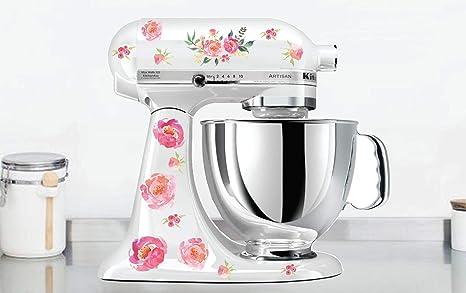 Amazon.com: Watercolor Peony Kitchen Mixer Decals Watercolor ...