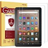 [2 pack] OMOTON Screen Protector for All-New Fire HD 8/Fire HD 8 Plus/Fire HD 8 Kids 2020 Released, Tempered Glass/High Defin